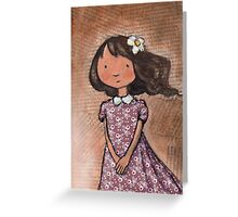 """Camille"" with daisy  Greeting Card"