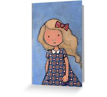 """""""Eloise"""" with bow Greeting Card"""