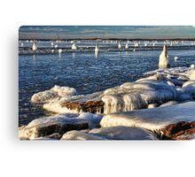 Icy Lake Eufaula, Oklahoma Canvas Print