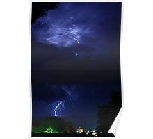 Night thunderstorm Poster