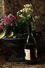 Wine and Flowers by Larry Costales