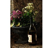 Wine and Flowers Photographic Print