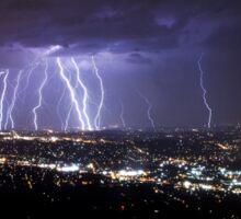 Mt Dandenong Victoria - Thunder Storm Lightning from Skyhigh October 2015 Sticker