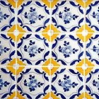 Portuguese Blue and yellows tiles  by Madalena Lobao-Tello