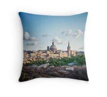 Valletta in the background Throw Pillow