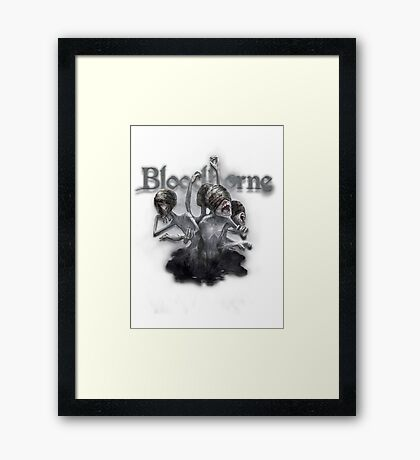Bloodborne Messengers Framed Print
