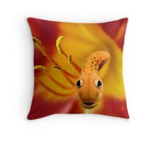 Surprise From The Lily Throw Pillow