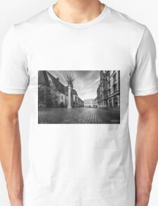 Urban Street Scene - City Square Leipzig Germany Unisex T-Shirt