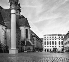 Urban Street Scene - City Square Leipzig Germany Sticker