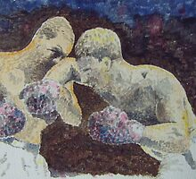 Rocky Marciano v Joe Louis 26.10.1951. Madison Square Gardens by Darren Golding