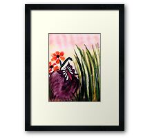 Check out this  #4 butterfly on the rock, watercolor Framed Print