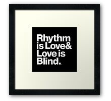 André Cymone Love to Dance Electric Helvetica Threads Framed Print