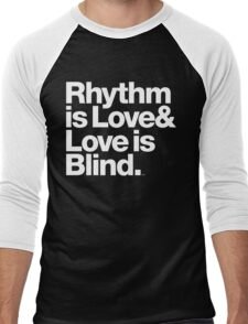 André Cymone Love to Dance Electric Helvetica Threads Men's Baseball ¾ T-Shirt