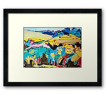 Australian Colourful Landscape  Framed Print