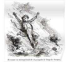 Achille Sirouy Mark Twain Les Aventures de Huck Huckleberry Finn illustration p011 Poster