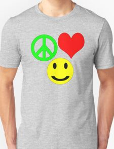 peace, love and happiness Unisex T-Shirt