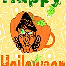 Halloween Card :Pumpkin Shape Mug (5277 Views) by aldona