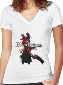 Bloodborne - Hunter Women's Fitted V-Neck T-Shirt