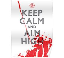 Keep Calm and Aim High Poster