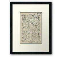 USGS Topo Map Oregon Tangent 282190 1911 31680 Framed Print