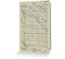 USGS Topo Map Oregon Tangent 282190 1911 31680 Greeting Card
