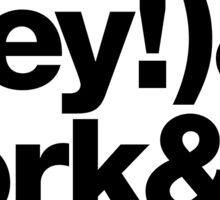 Sardines & Beans Junkyard Chuck Brown Helvetica Threads Sticker