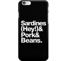 Sardines & Beans Junkyard Chuck Brown Helvetica Threads iPhone Case/Skin