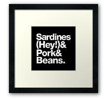 Sardines & Beans Junkyard Chuck Brown Helvetica Threads Framed Print