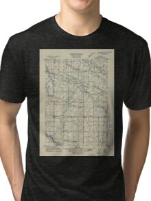 USGS Topo Map Oregon Tangent 282190 1911 31680 Tri-blend T-Shirt