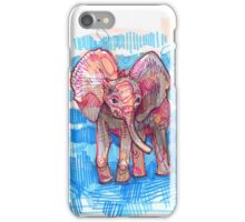Elephant baby drawing - 2011 iPhone Case/Skin