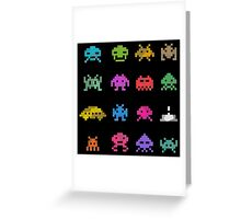 Space Invaders Greeting Card