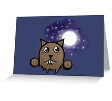 Werewolf Emoticon  Greeting Card