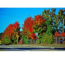 Small Town Fall Photographic Print