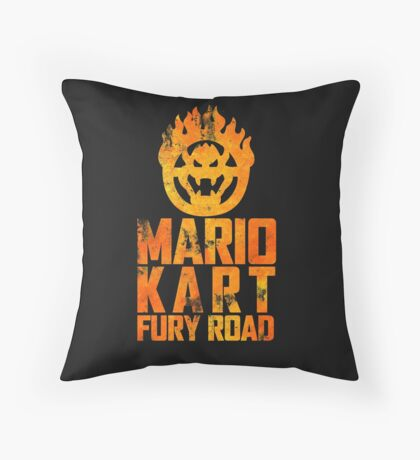 Mario Kart Fury Road Throw Pillow