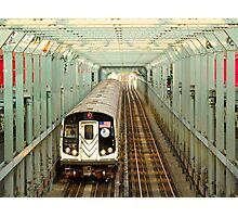 Sequence no.9 New York City Subway, Williamsburg Bridge, Brooklyn Photographic Print