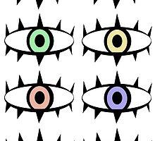 Pastel eyes by kawaiivildesign