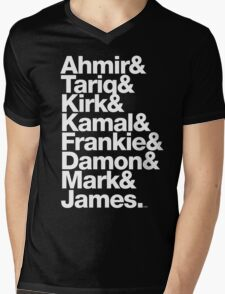 The Roots & Questlove Helvetica Ampersand Merch Mens V-Neck T-Shirt