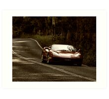 Ferrari On the Bends Art Print