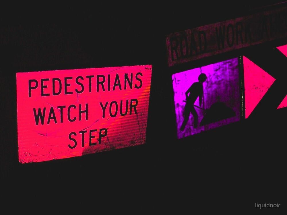 Pink Pedestrians by liquidnoir