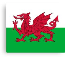 Wales National Flag - Welsh Rugby Football Fan Sticker T-Shirt Bedspread Canvas Print