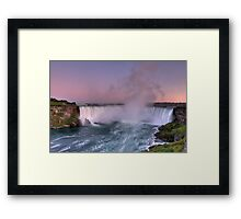 Power of Horseshoe - Niagara Falls  Framed Print