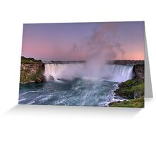 Power of Horseshoe - Niagara Falls  Greeting Card
