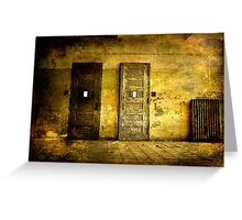 Abandoned Psychiactric Hospital- Textured Greeting Card