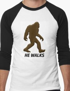 HE WALKS  Men's Baseball ¾ T-Shirt