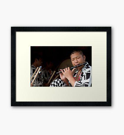Matsuri Flute Framed Print