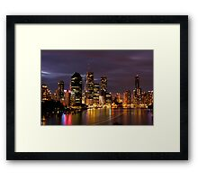 Brisbane City, Australia at night Framed Print