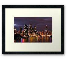 Brisbane City, Australia at night Framed Print