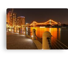 Story Bridge, Brisbane at night Canvas Print