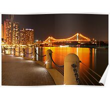 Story Bridge, Brisbane at night Poster