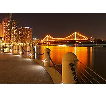 Story Bridge, Brisbane at night Photographic Print